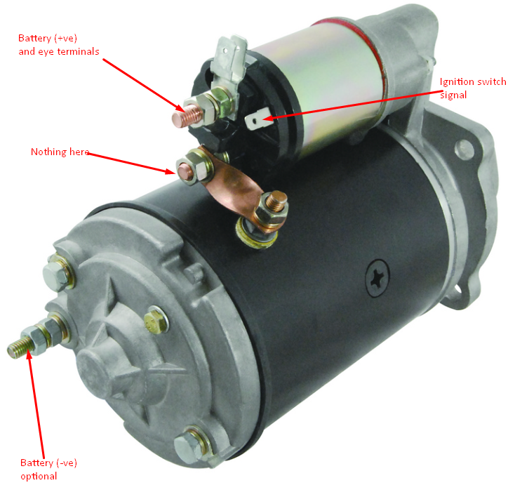 Starter motor wiring on a 1993 JCB 3CXPlant Talk